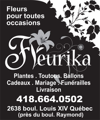 Fleurika (418-664-0502) - Display Ad