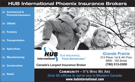HUB International Phoenix Insurance Brokers (780-513-5300) - Annonce illustrée