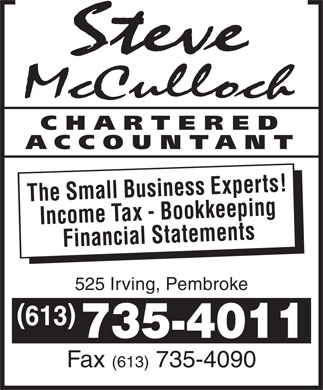 McCulloch Steve C A (613-735-4011) - Display Ad