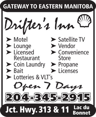 Drifter's Inn (204-345-2915) - Display Ad