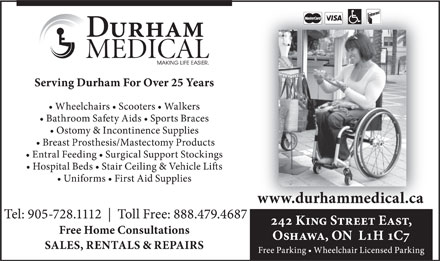 Durham Medical (905-728-1112) - Display Ad