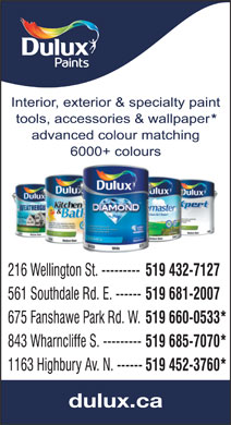 Dulux Paints (519-745-4715) - Display Ad