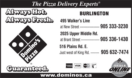 Domino's Pizza (905-336-1430) - Display Ad