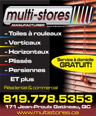 Multi-Stores (819-778-5353) - Display Ad