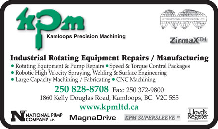Kamloops Precision Machining Ltd (250-828-8708) - Annonce illustrée