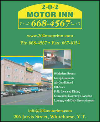 202 Motor Inn (867-668-4567) - Display Ad