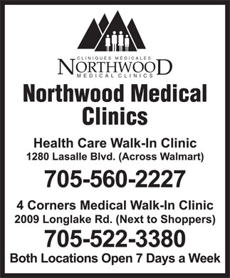 Northwood Medical Clinics (705-560-2227) - Display Ad