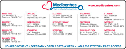 Westgrove Medicentre (780-401-9832) - Display Ad