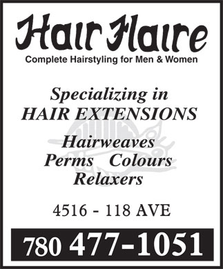 Hair Flaire (780-477-1051) - Annonce illustr&eacute;e