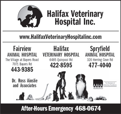 Halifax Veterinary Hospital (902-422-8595) - Annonce illustrée