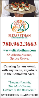 Elizabethan Catering Services (780-962-3663) - Display Ad