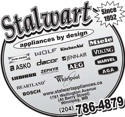 Stalwart Appliances By Design (204-786-4879) - Annonce illustrée - www.stalwartappliances.ca