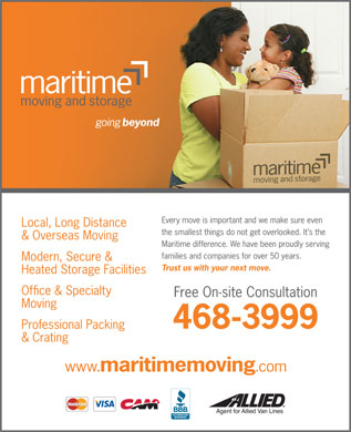 Maritime Moving & Storage (902-468-3999) - Display Ad - 468-3999