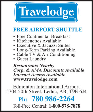 Travelodge Edmonton International Airport (780-980-9033) - Annonce illustrée