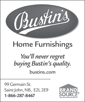 Bustin's Home Furnishings (1-866-287-8467) - Display Ad