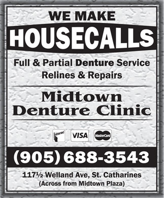 Midtown Denture Clinic (905-688-3543) - Annonce illustrée - Midtown Denture Clinic