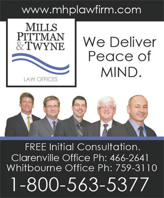 Mills Pittman & Twyne Law Offices (709-466-2641) - Annonce illustrée
