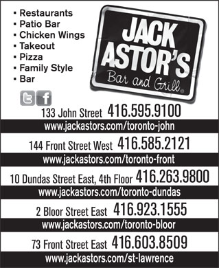 Jack Astor's (416-263-9800) - Display Ad