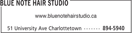 Blue Note Hair Studio (902-894-5940) - Annonce illustr&eacute;e - www.bluenotehairstudio.ca