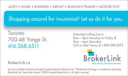 BrokerLink (416-368-6511) - Display Ad