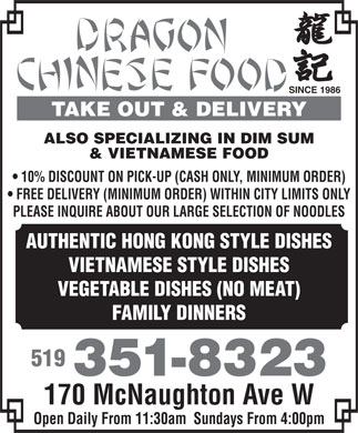 Chatham Kent Chinese Food Take Out