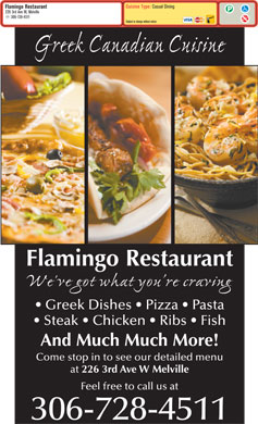Flamingo Restaurant (306-728-4511) - Menu