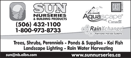 Sun Nurseries Inc (506-432-1100) - Annonce illustr&eacute;e - ( ) 506 432-1100 1-800-973-8733 Perennials