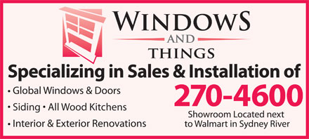 Windows & Things (902-270-4600) - Annonce illustrée - Siding   All Wood Kitchens