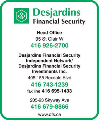 Desjardins Financial Security (416-926-2700) - Display Ad