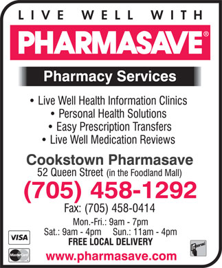Pharmasave (705-458-1292) - Display Ad