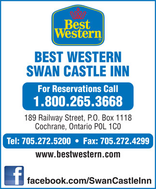 Best Western Swan Castle Inn (705-272-5200) - Display Ad