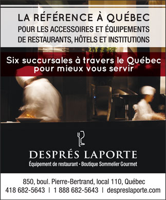 Després Laporte Inc (418-317-0654) - Display Ad