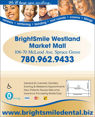 BrightSmile Westland Market Mall Dental Centre (780-962-9433) - Annonce illustr&eacute;e