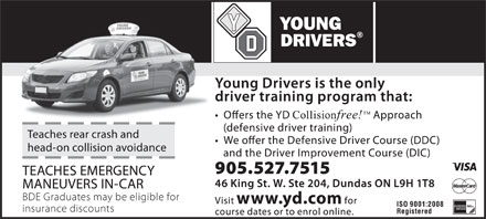 Young Drivers Of Canada (905-527-7515) - Annonce illustrée