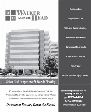 Walker Head (905-839-4484) - Display Ad