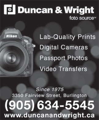 Duncan & Wright (905-634-5545) - Display Ad