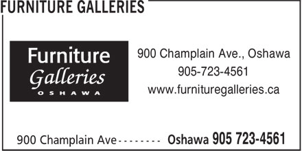 Furniture Galleries (905-723-4561) - Annonce illustrée - 900 Champlain Ave., Oshawa 905-723-4561 www.furnituregalleries.ca