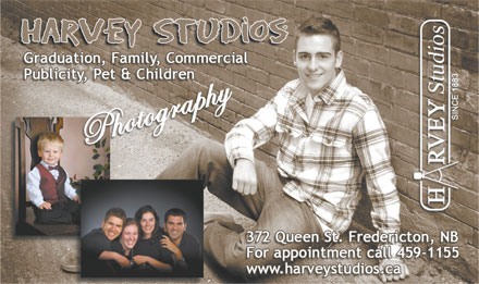 Harvey Studios (506-459-1155) - Display Ad