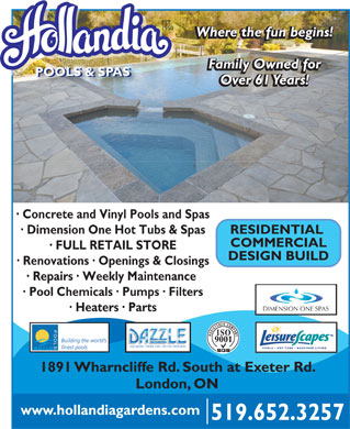 Hollandia pool spa 1891 wharncliffe rd s london on for Pool design london ontario