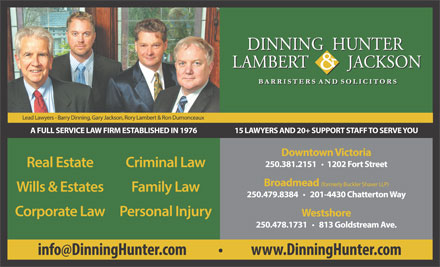 Dinning Hunter Lambert & Jackson (250-419-0841) - Display Ad