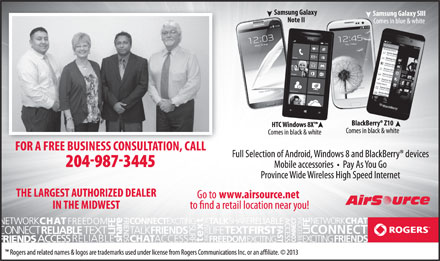 Rogers Wireless (204-989-2927) - Display Ad