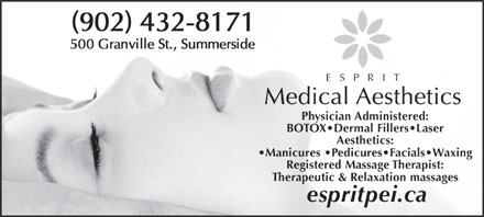 Esprit Medical Aesthetics (902-432-8171) - Display Ad