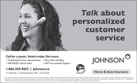 Johnson Inc (1-800-563-4492) - Display Ad