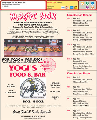 Magic Wok (902-892-8000) - Menu