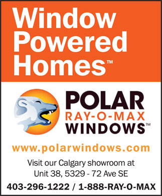 Polar Ray-O-Max Windows Canada (403-296-1222) - Annonce illustrée