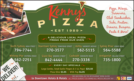 Kenny's Pizza (902-564-5588) - Display Ad