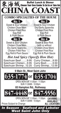 China Coast Rest (506-635-1774) - Display Ad