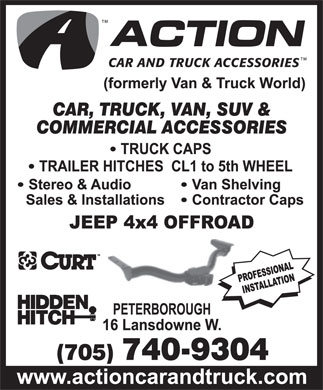 Action Car and Truck Accessories (705-740-9304) - Display Ad