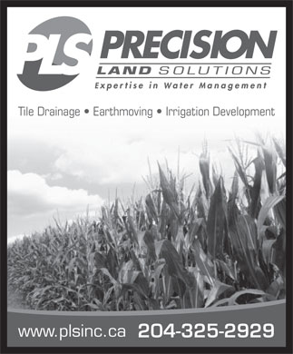 Precision Land Solutions Inc (204-325-2929) - Annonce illustrée - Tile Drainage   Earthmoving   Irrigation Development www.plsinc.ca 204-325-2929 Tile Drainage   Earthmoving   Irrigation Development www.plsinc.ca 204-325-2929