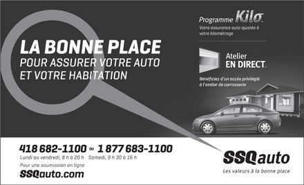 Assurance SSQauto (418-682-1100) - Display Ad